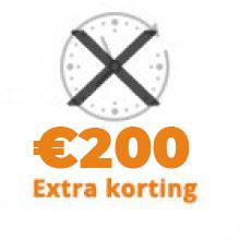 Geenproeftijd +€ -200,00