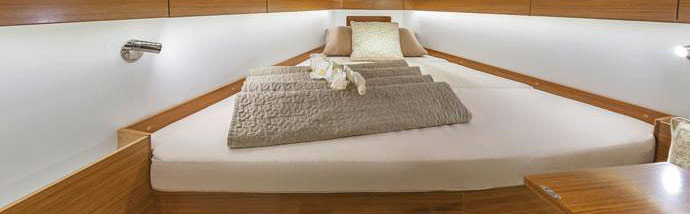 Maatwerk matras voor een jacht schip gemaakt door Royal Health Foam