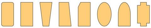 Voorbeelden van verschillende vormen matrassen op maat